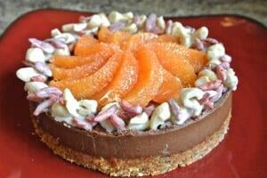 Chocolate Orange Goji Berry Cheesecake