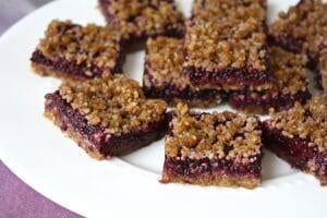Raw Blackberry Jam Bars