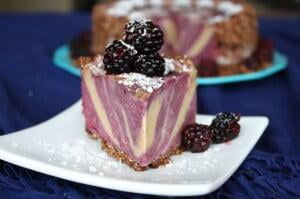 Blackberry Banana Ice Cream Cake