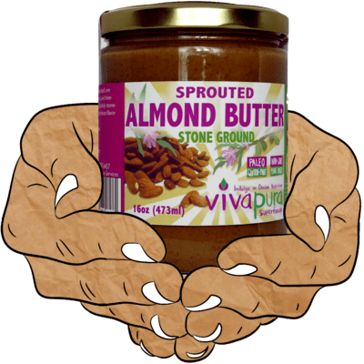 Sprouted Almond Butter, Raw, Organic, Stone Ground, 16 oz