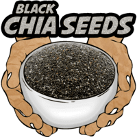 Black Chia Seeds, Raw, Organic, 16 oz