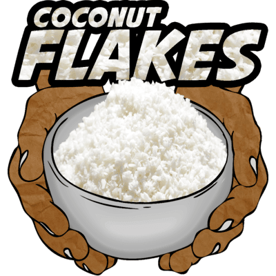 Coconut Flakes, Raw, Organic, 12 oz