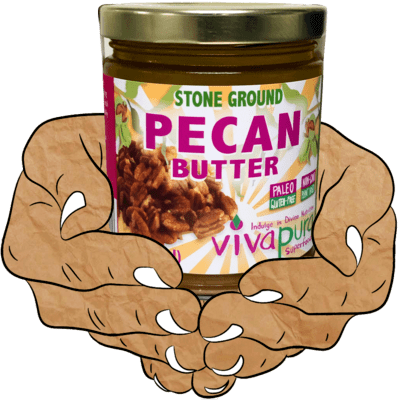 Pecan Butter, Raw, Organic, Stone Ground, 9 oz