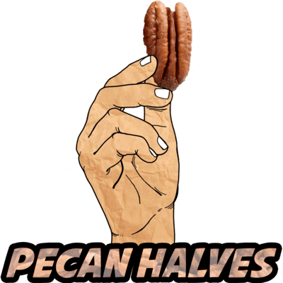 Pecan Halves, Raw, Organic, 8 oz