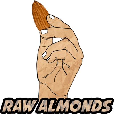 Almonds, Raw, Organic, 16 oz