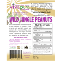 Wild Jungle Peanuts, Raw, Organic, Bulk, 4lb