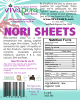 Nori Sheets, Raw, Organic, 50 Sheets
