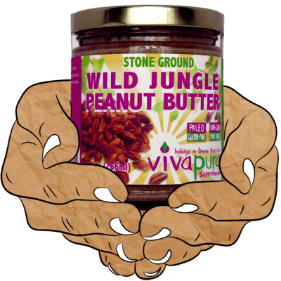 Wild Jungle Peanut Butter, Raw, Organic, Stone Ground, 9 oz